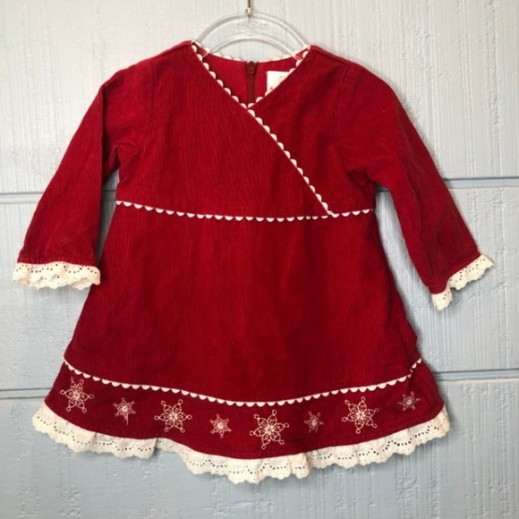 Hanna Andersson Other - Hanna Andersson 70 Red Corduroy Dress